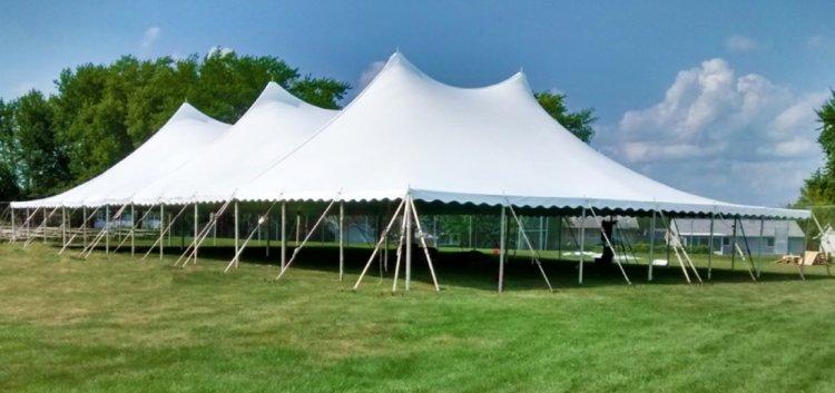 60 X120 Twin Peak Pole Tent Amazing Jumps Tents