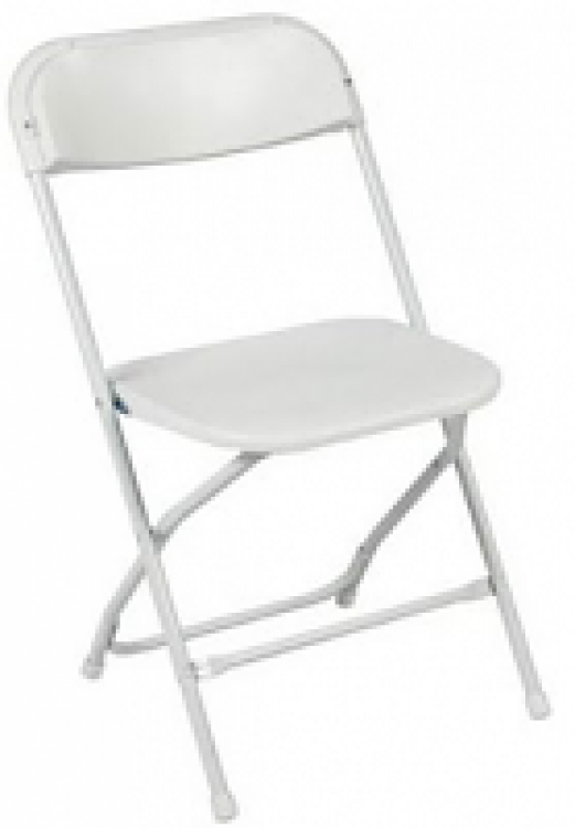 Chairs-White Samsonite, Folding